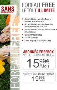 Offre Free mobile Illimité